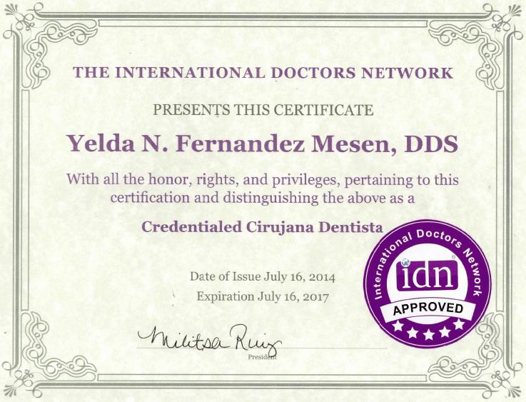 Dr. Yelda Fernandez, DDS